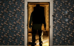 Picture the door, knife, Ghost, Wallpaper