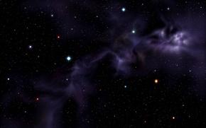 Picture nebula, Hubble, purple