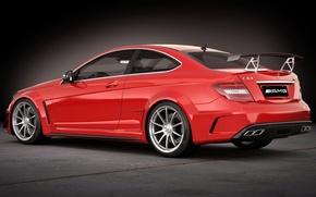 Picture figure, Mercedes-Benz, art, AMG, Coupe, Black Series, C 63, DANGERUSS