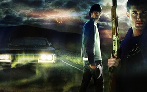 Picture lights, impala, supernatural