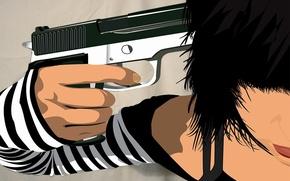 Wallpaper weapons, depression, Vector, gun