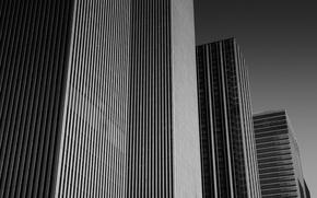 Picture USA, United States, skyline, sky, New York, Manhattan, NYC, New York City, monochrome, black and …