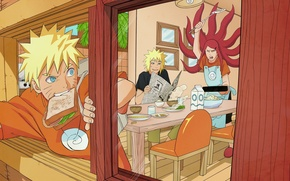 Wallpaper naruto, naruto, Minato, namikaze, kushina, yondaime hokage, the fourth Hokage, anime
