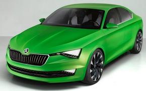 Picture Concept, Green, Skoda, (2014), Visionic