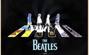 Picture Abbey Road, The Beatles, Rock, Paul McCartney, John Lennon, album covers, Ringo Starr, John Harrison