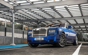 Picture Auto, Blue, Phantom, Wheel, Case, Rolls Royce, Suite, The front