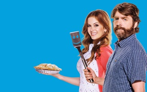 Wallpaper background, pair, action, poster, Zach Galifianakis, Zach Galifianakis, Comedy, Isla Fisher, Isla Fisher, The spy ...