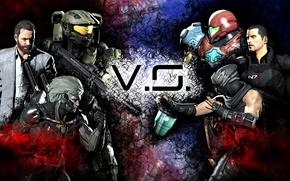 Picture Ninja Gaiden, Raiden, Max Payne, Metal Gear Rising: Revengeance, helmet, Mr. Lightning Bolt, White Devil, ...