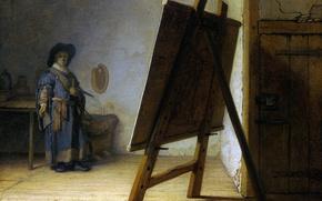 Picture picture, self portrait, Rembrandt van Rijn, The artist in His Studio
