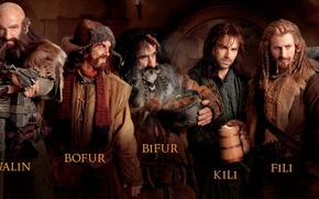 Picture dwarves, company, feast, The hobbit, The Hobbit, The hobbit: an Unexpected journey, Bag End, Thorin, …