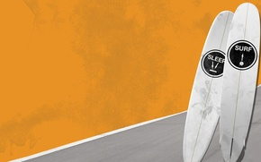 Picture sea, wave, summer, sport, Board, minimalism, surfing, riding