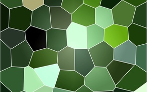 Picture background, texture, stained glass, green