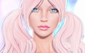 Wallpaper hair, braids, face, lips, girl, eyes