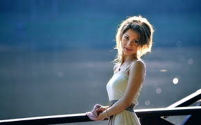 Picture girl, smile, sweetheart, sunlight, Mariya