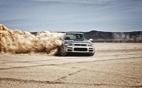 Picture sand, skid, wrx, subaru impreza, Subaru, side, sti, Impreza