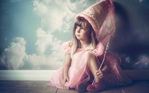 Picture fairy, girl, little