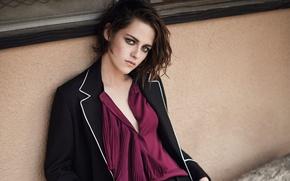 Picture model, makeup, actress, brunette, hairstyle, blouse, jacket, Kristen Stewart, Kristen Stewart, photoshoot, It, Kai Z …