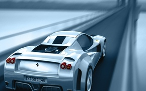Wallpaper road, Ferrari, bridge, speed