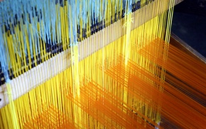 Picture paint, Japan, Kyoto, thread, loom, Nishijin