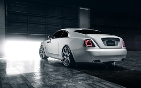 Picture car, ass, garage, Rolls Royce, Wraith