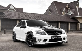 Picture white, the sky, house, Mercedes-Benz, garage, Mercedes, tuning, the front, DTM, C-class, Status Design, tuning, …