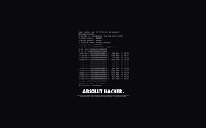 Picture Letters, The inscription, Absolute, Words, Black, Hacker, Hacker, Absolut