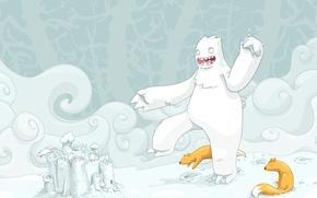 Wallpaper Fox, monster, White, castle