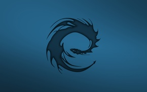 Picture dragon, minimalism, Eragon