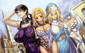 Picture chest, girls, queens blade, Queen's blade