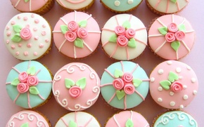 Picture holiday, decoration, cakes, sweet, cupcakes
