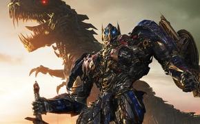 Picture machine, dragon, dinosaur, Optimus Prime, Optimus Prime, Michael Bay, Michael Bay, The Autobots, Transformers 4, …