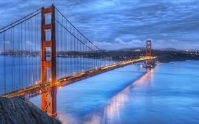Picture city, San Francisco, USA, USA, Golden Gate Bridge, wallpapers, San Francisco, Golden Bridge