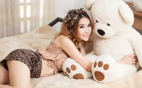 Picture mood, toy, Asian, Teddy bear