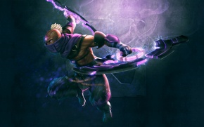 Picture weapons, art, guy, Dota 2, Anti-Mage