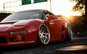 Picture car, red, honda, Honda, nsx, hq Wallpapers