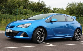 Picture vauxhall, blue, astra, vxr