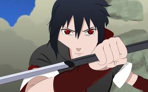 Picture sword, Sasuke, Naruto, war, anime, katana, boy, sharingan, ninja, asian, Akatsuki, Uchiha, manga, Uchiha Sasuke, ...