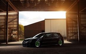 Picture black, tuning, black, Golf, golf, Volkswagen, Volksvagen, stance, mk5