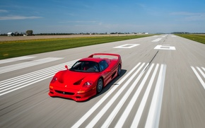 Picture car, auto, speed, Ferrari, red, Ferrari, speed, F50, racing