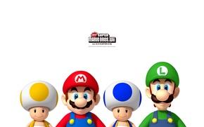 Wallpaper Nintendo, Wii, Super Mario