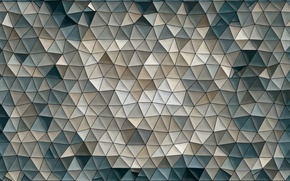 Picture mosaic, background, abstraction, Wallpaper, pattern, color, figure, triangle, Triangles