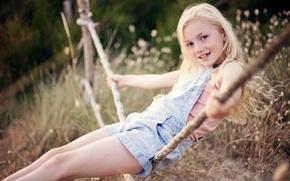 Picture summer, swing, girl