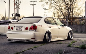 Picture white, tuning, Lexus, stance, lexus gs