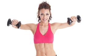 Wallpaper fitness, dumbbells, small weights