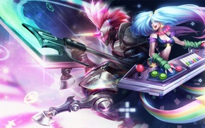 Picture girl, League of Legends, Sona, Maven of the Strings, Arcade Sona