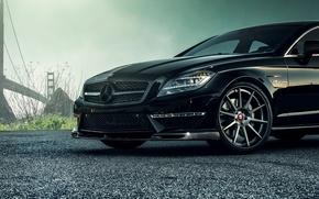 Picture black, Mercedes-Benz, wheel, disk, sedan, Mercedes, AMG, Black, Sedan, C218, CLS 63, 2015, CLK-Class