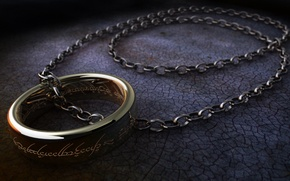 Picture surface, labels, the Lord of the rings, ring, chain, the lord of the rings