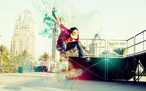 Picture the city, sport, skate