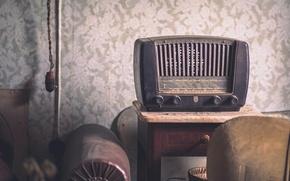 Picture background, radio, receiver
