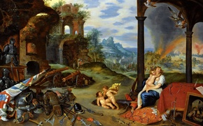 Wallpaper Allegory Of War, Jan Brueghel the younger, picture